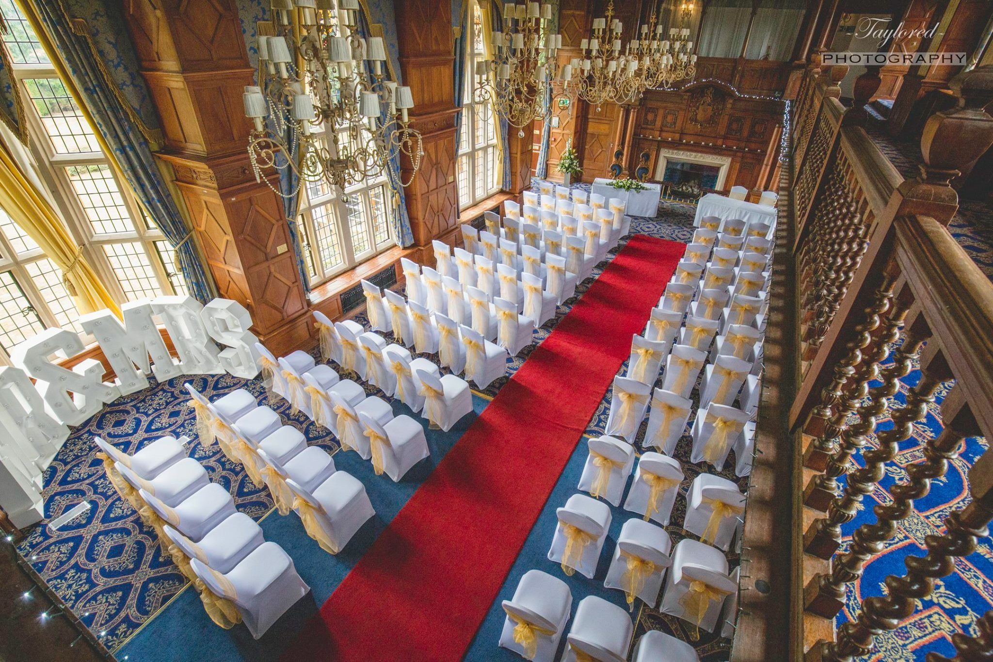 Great Hall Set For Wedding Civil Ceremony